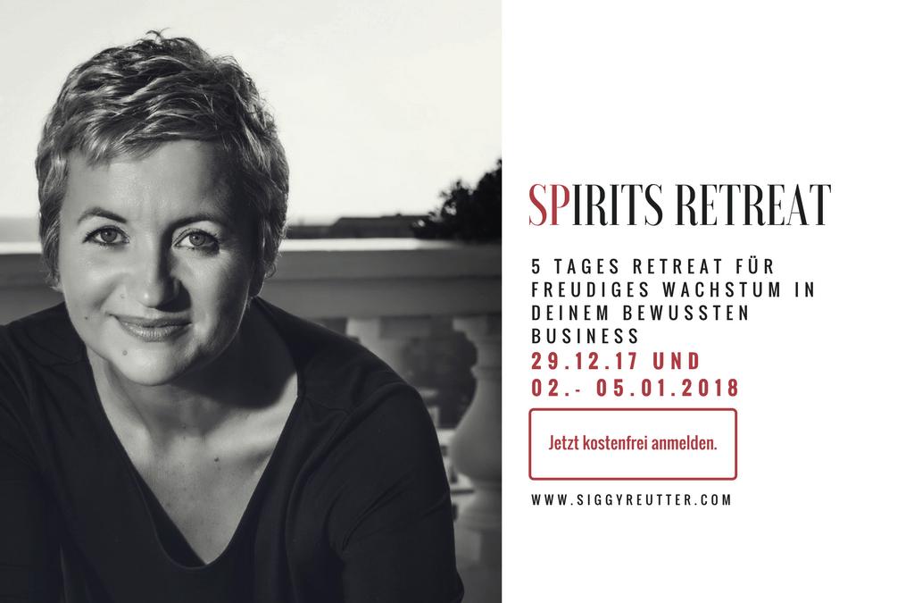 Einladung zum Spirit Preneurs Retreat ab 29.12.