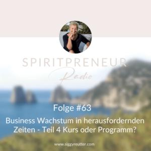 Spiritpreneur Podcast Folge #63: Businesswachstum in herausfordernden Zeiten Teil 4: Kurs oder Programm?